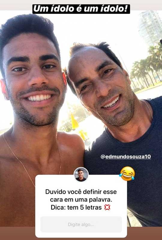 Tiago Reis publica registro de encontro com Edmundo