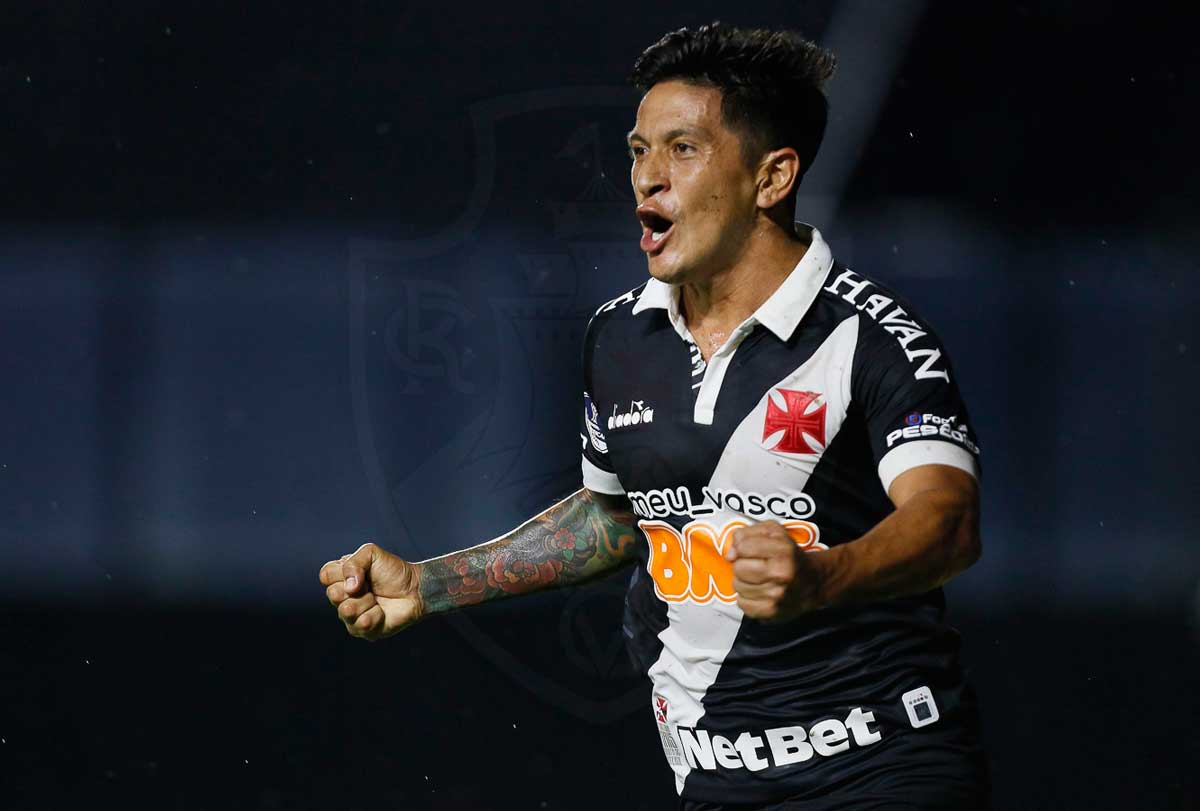 Germán Cano se destaca no Vasco