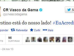 Twitter oficial do Vasco provoca Flu bee0894328789
