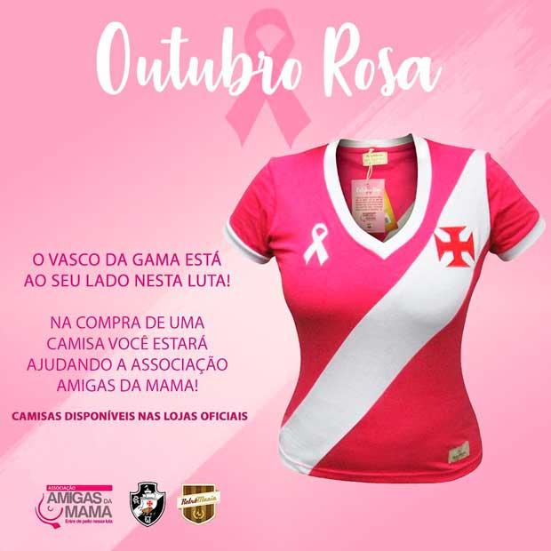 9b26265a71 Foto  Vasco lança camisa em homenagem ao Outubro Rosa - Vasco Notícias
