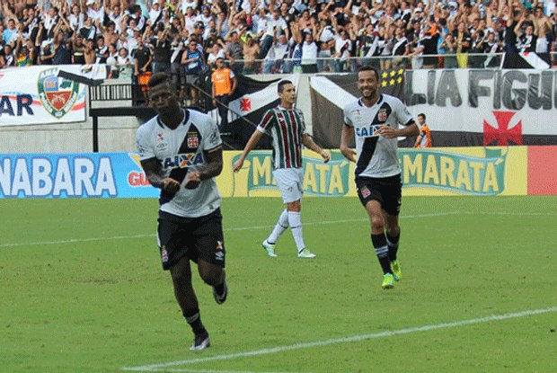 Riascos, autor do gol (Fluminense 0 x 1 Vasco)
