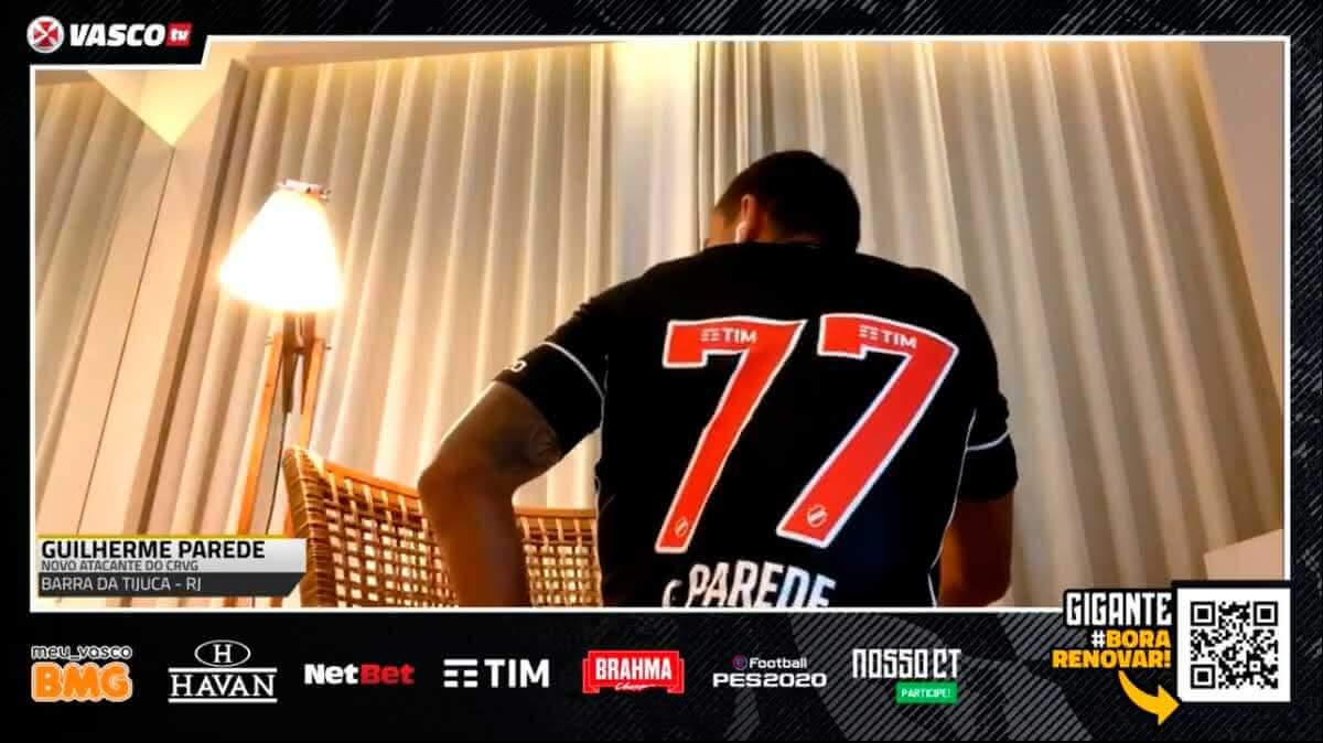 Guilherme Parede vestirá a camisa 77 no Vasco