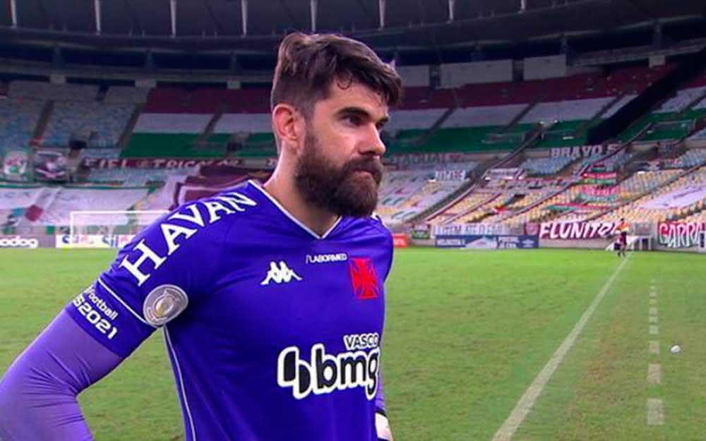 Fernando Miguel em entrevista após clássico contra o Fluminense