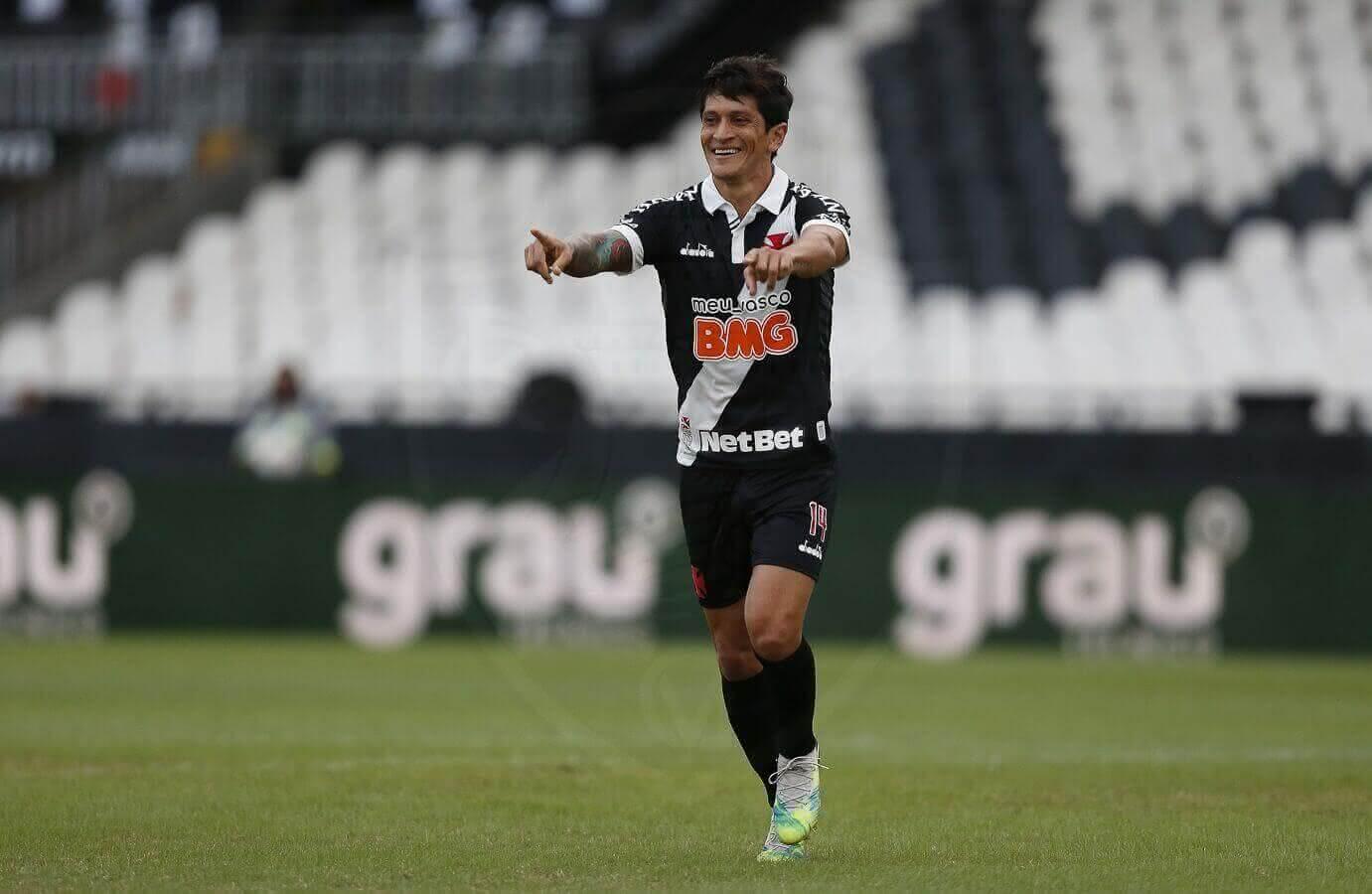 Germán Cano durante o jogo contra o Macaé em 2020