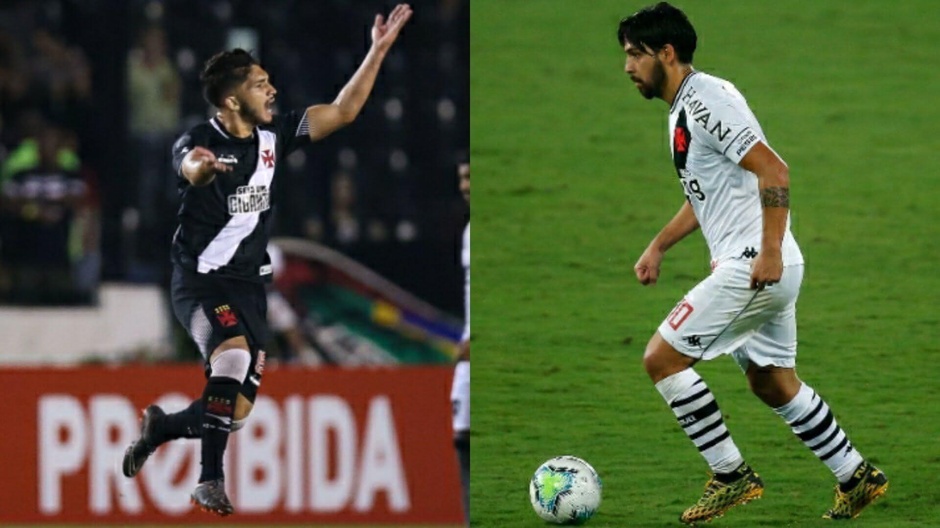 Andrey e Benítez jogando pelo Vasco