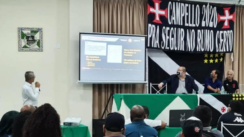 Campello anuncia candidatura à reeleição no Vasco