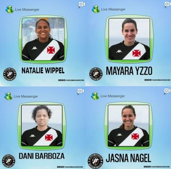 Vasco anuncia quatro reforços no Beach Soccer Feminino