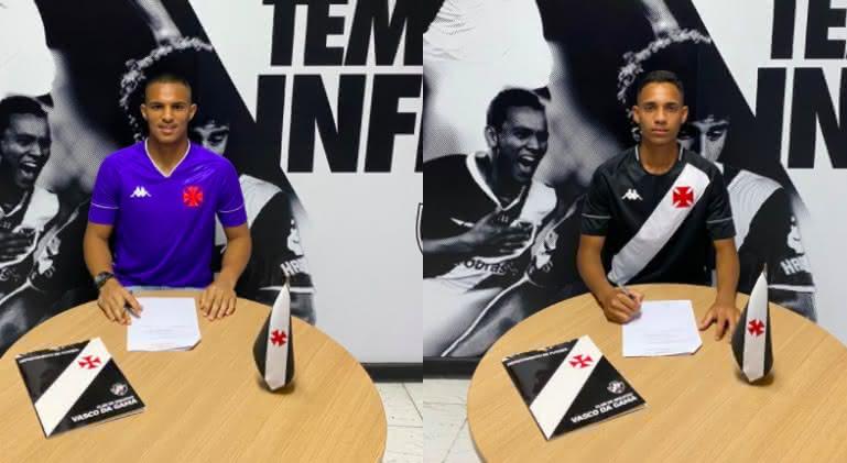 Patrick Paixão e Victor Araújo assinaram com o Vasco até setembro de 2023
