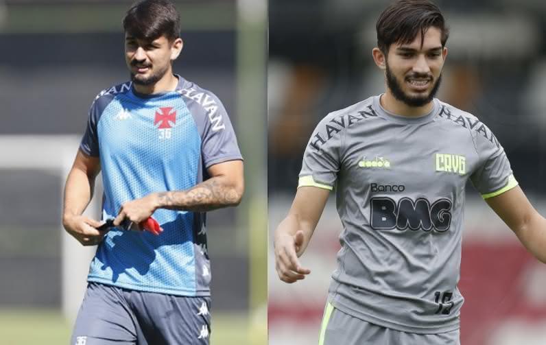 Ricardo Graça e Andrey em treino pelo Vasco