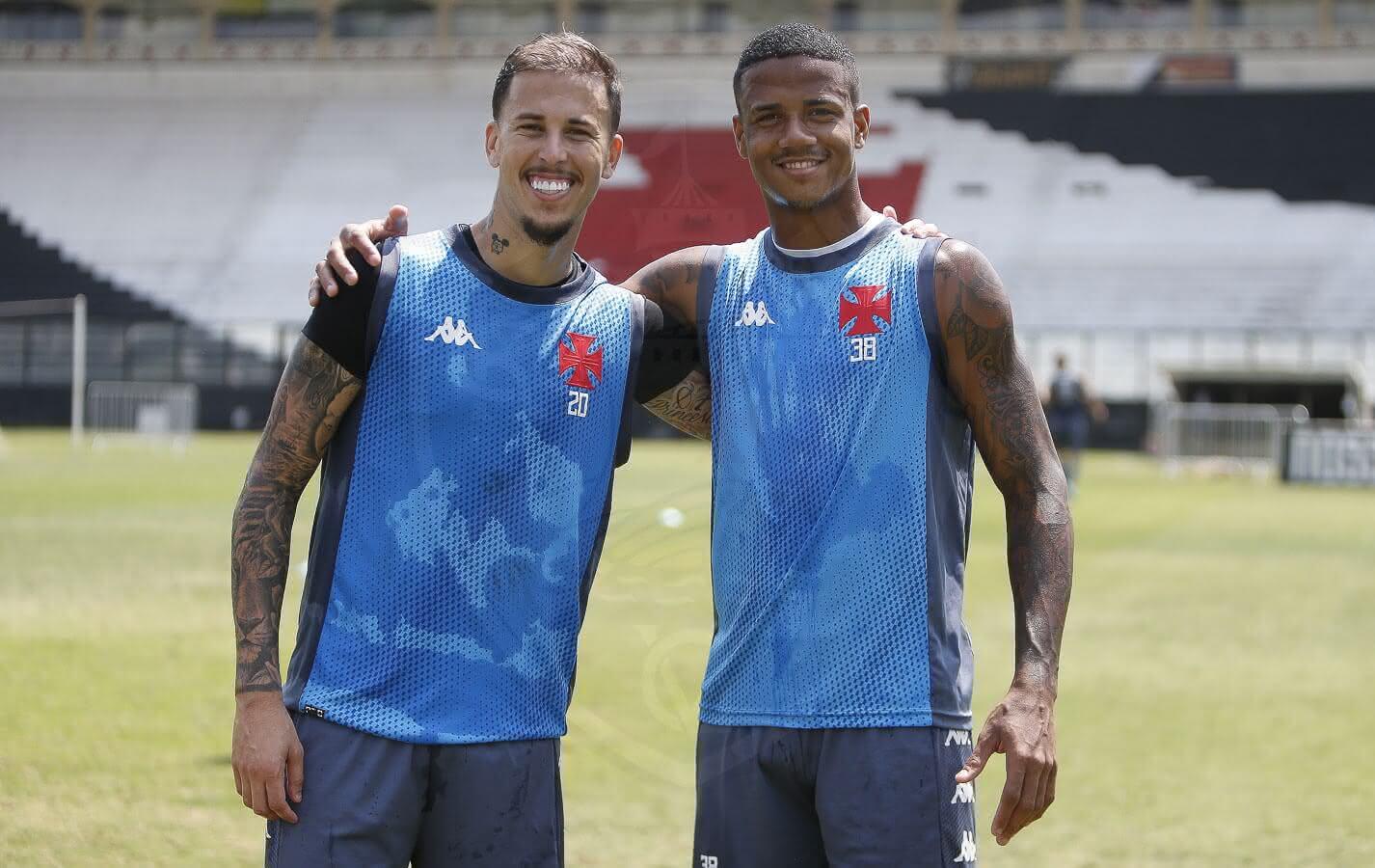 Ygor e Marcos Júnior no treino do Vasco da Gama