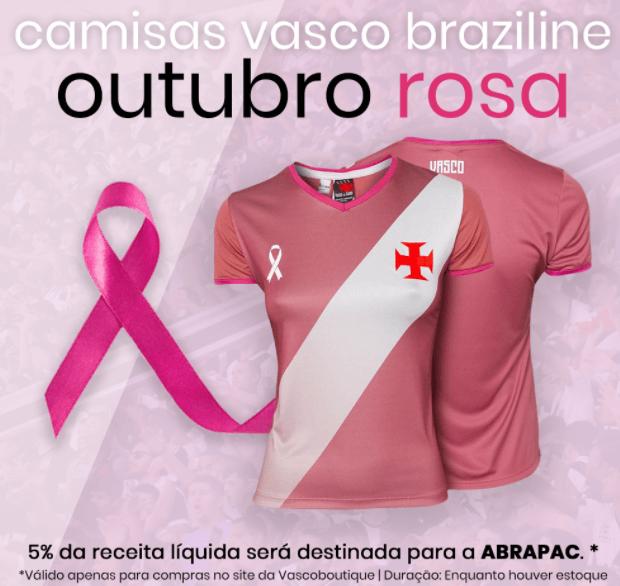 Camisa Vasco da Gama - Outubro Rosa