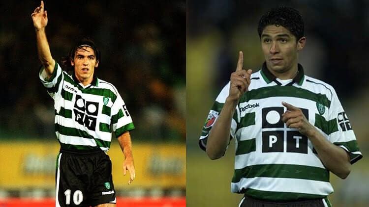 Jardel e Ricardo Sá Pinto nos tempos de Sporting Lisboa