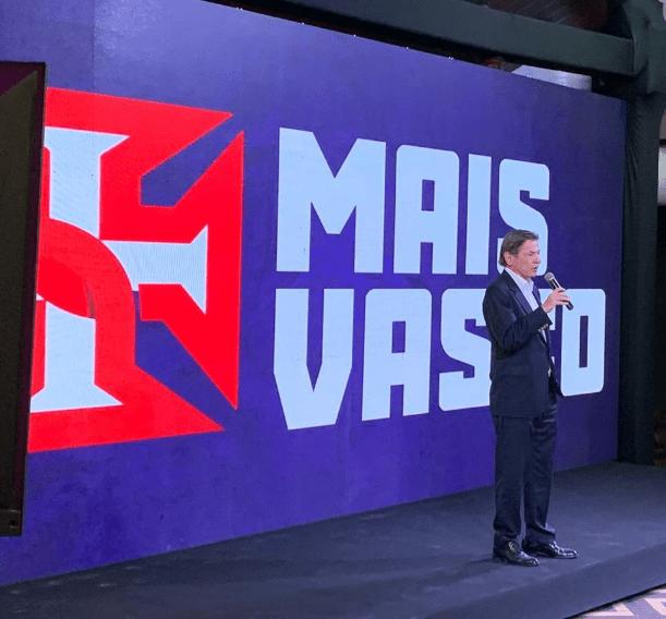 Jorge Salgado em evento da Mais Vasco