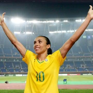 Marta Vieira em ação pela Seleção Brasileira