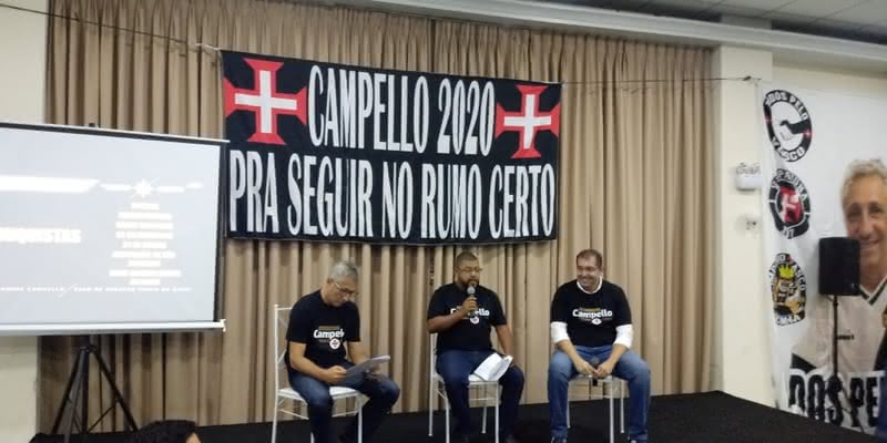 Alexandre Campello e Fred Lopes em evento de união das chapas