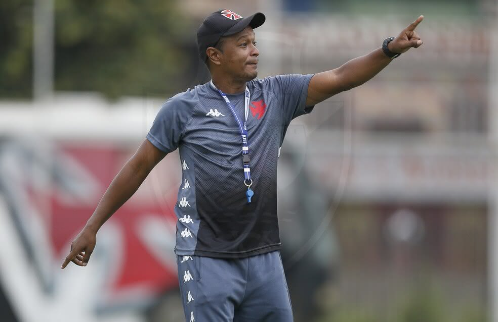 Antony Menezes durante treino do Vasco