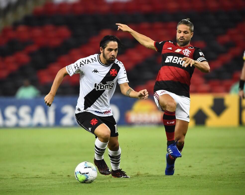 Benítez durante o jogo contra o Flamengo