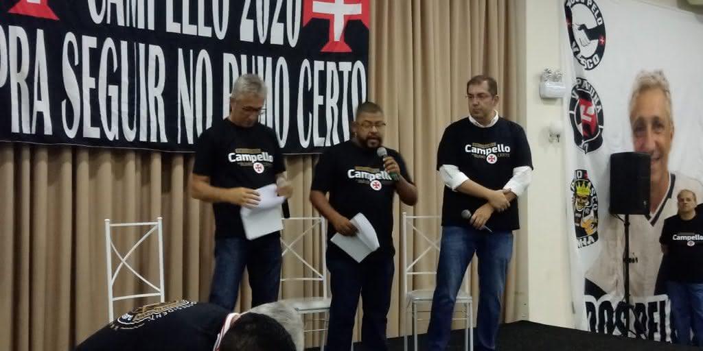 Fred Lopes se uniu a Campello na eleição do Vasco