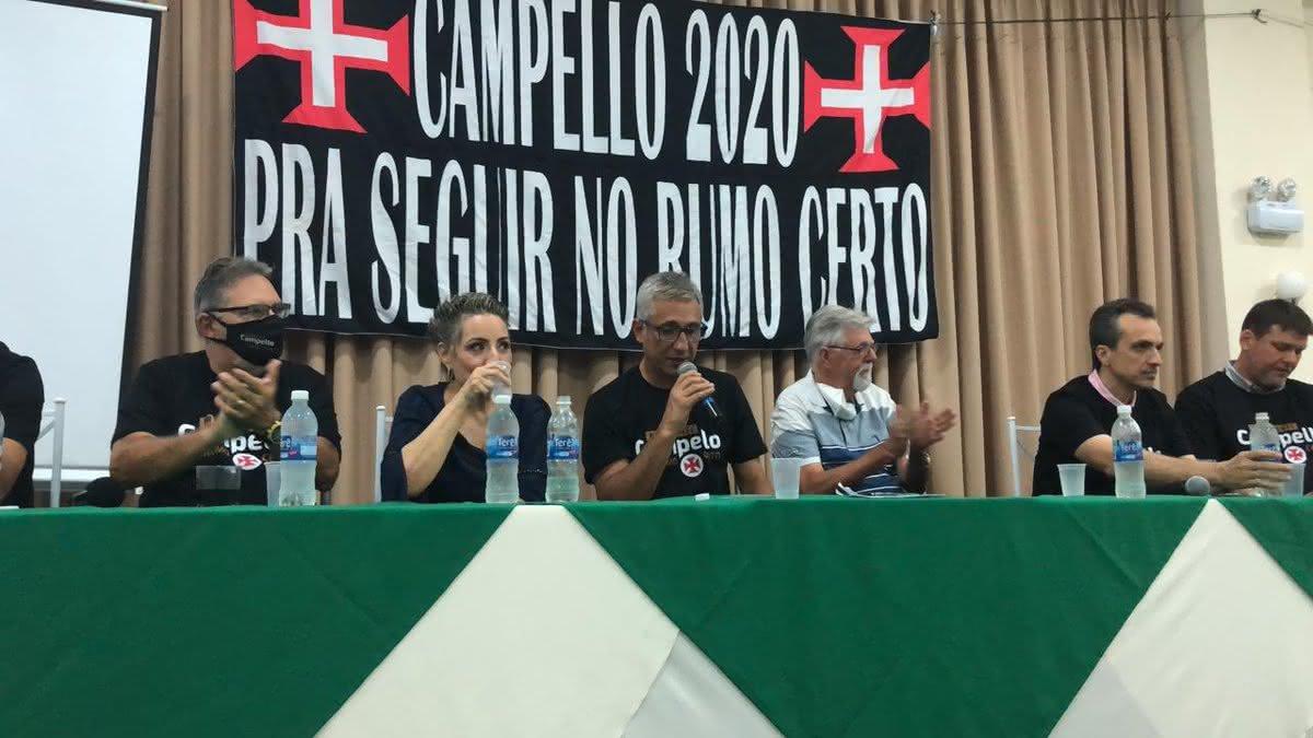 Alexandre Campello durante evento da chapa No Rumo Certo