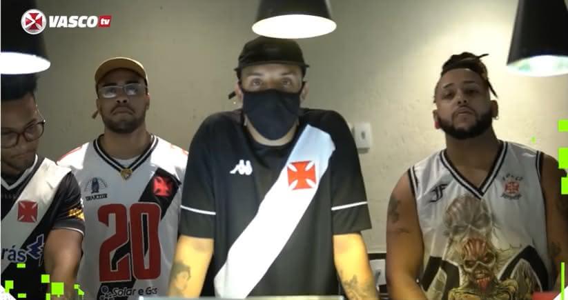 Delacruz e sua equipe na audição do Feat Vasco