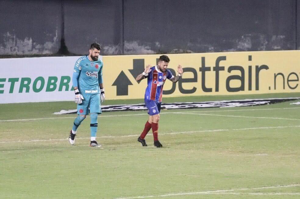 Fernando Miguel em jogo contra o Bahia