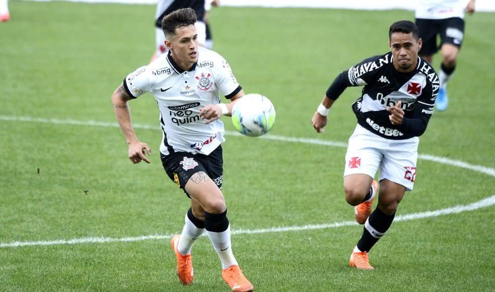 Yago Pikachu durante o jogo contra o Corinthians