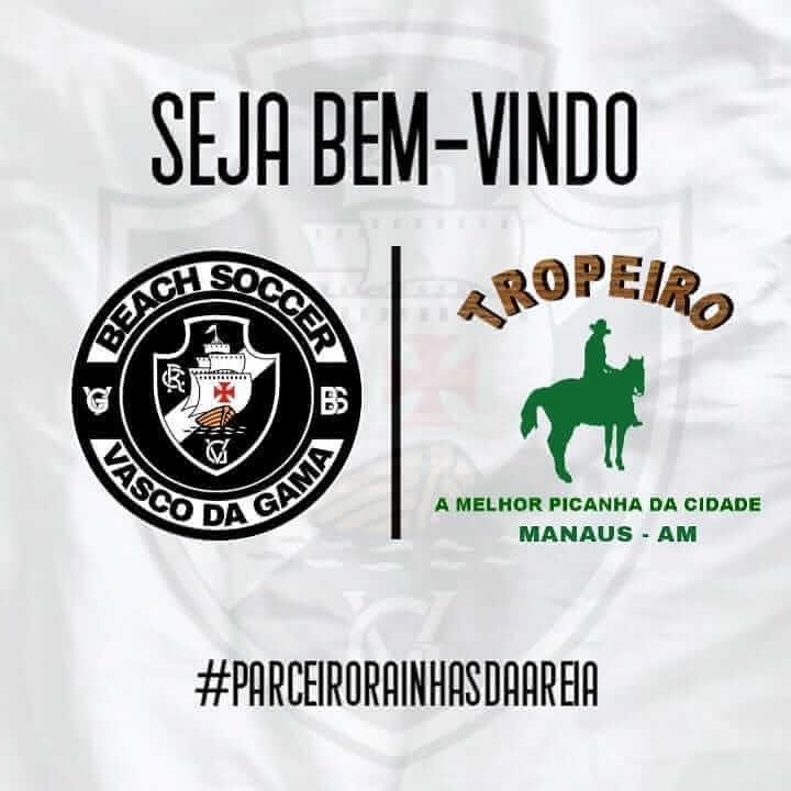 Parceria Vasco Beach Soccer e Tropeiro Churrascaria