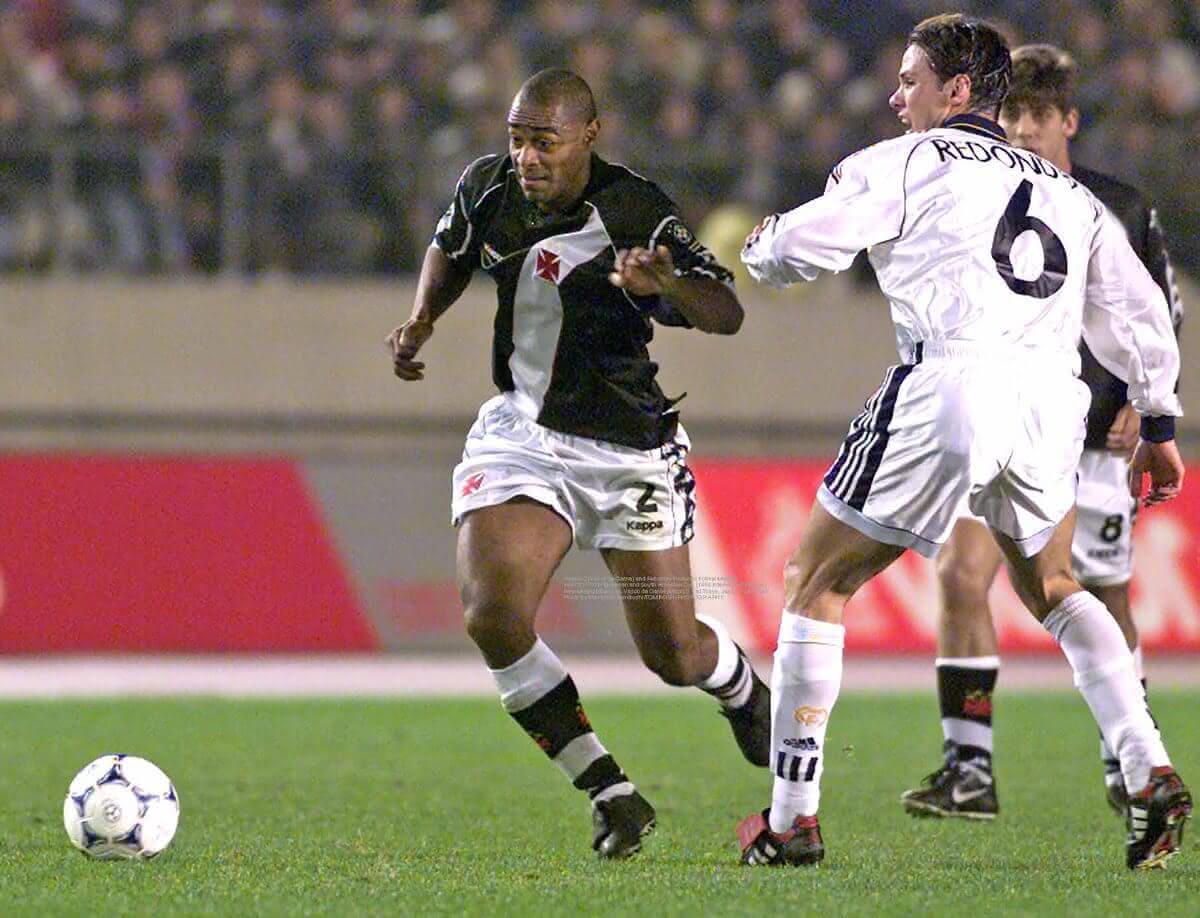 Vágner em partida pelo Vasco contra o Real Madrid