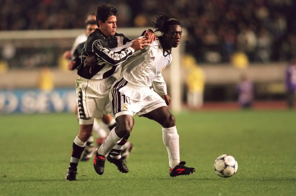 Ramon e Seedorf em Vasco x Real Madrid de 1998