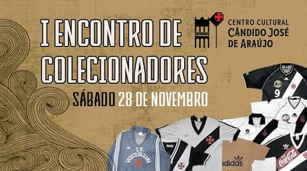 Flyer oficial do I Encontro de Colecionadores do Centro Cultural Candido José de Araujo