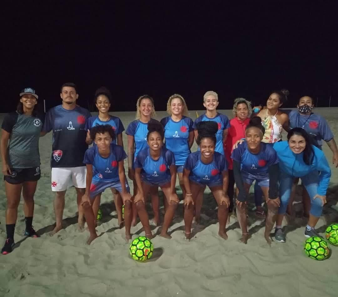 Categoria de base do Beach Soccer feminino do Vasco