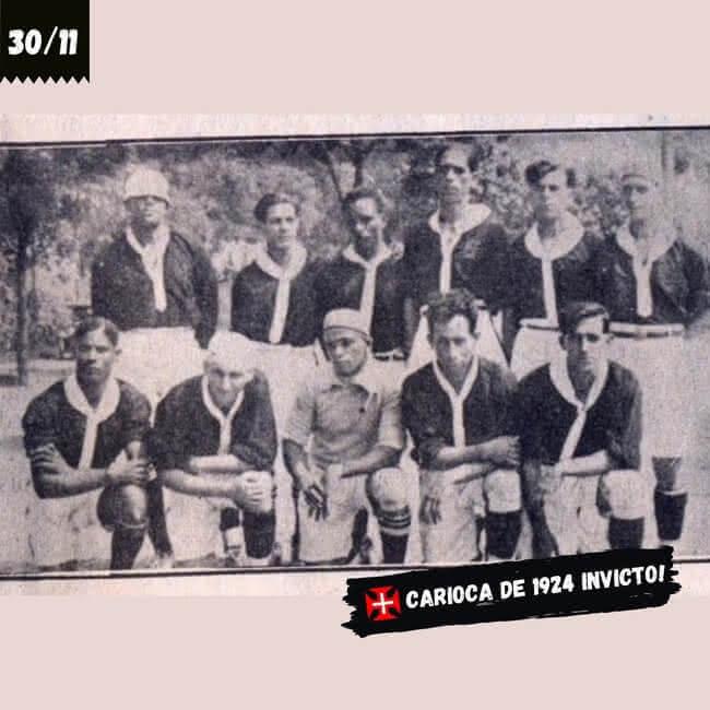 Vasco campeão invicto do Carioca de 1924