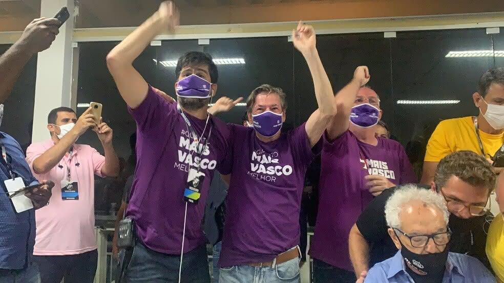 Jorge Salgado comemora vitória na eleição do Vasco