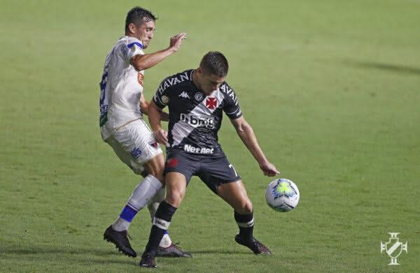 Leonardo Gil no jogo Vasco 0 x 0 Fortaleza em São Januário