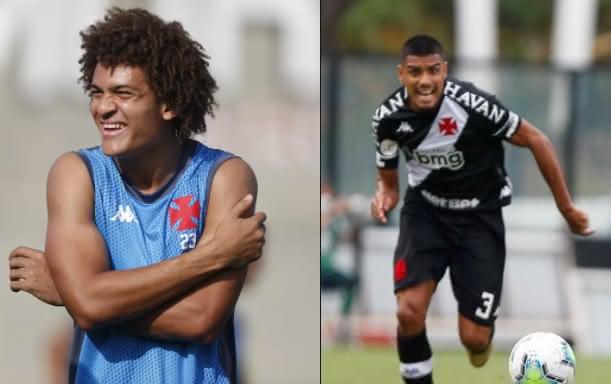 Neto Borges e Léo Matos em ação pelo Vasco