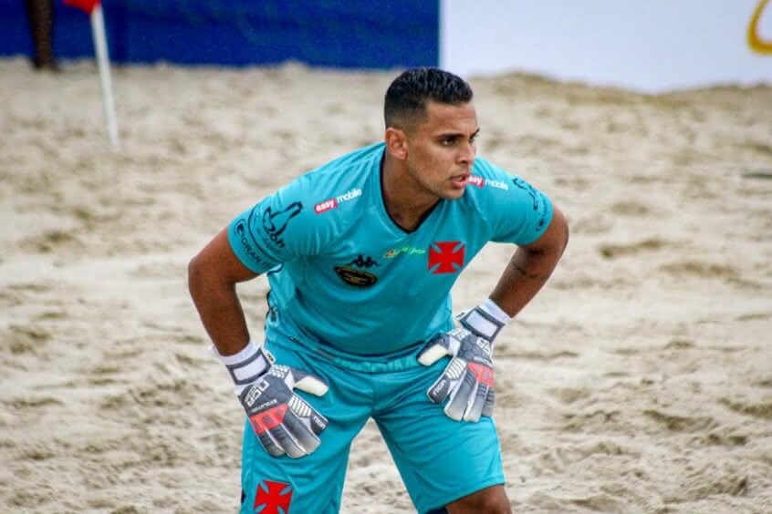 Rafael Padilha, goleiro do Beach Soccer do Vasco