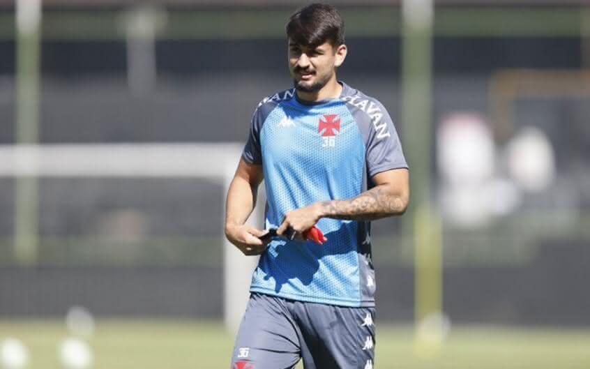 Ricardo Graça em treino do Vasco