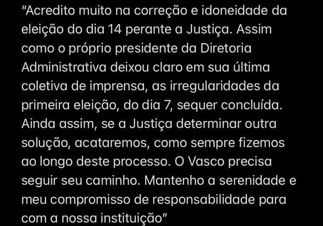 Jorge Salgado afirma que acatará decisão da Justiça