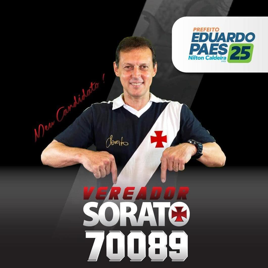 Sorato foi candidato a vereador no Rio de Janeiro