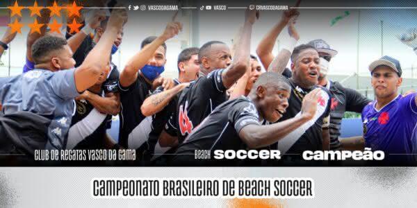 Vasco conquista o Brasileiro de Beach Soccer