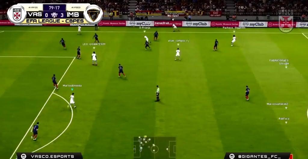 Vasco x Imbatíveis pela EFA League, de PES 2021