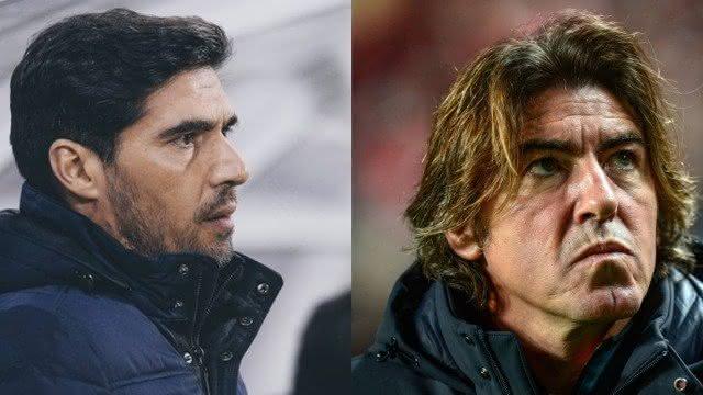 Aber Ferreira, técnico do Palmeiras, e Ricardo Sá Pinto, técnico do Vasco Foto: Agência O Globo