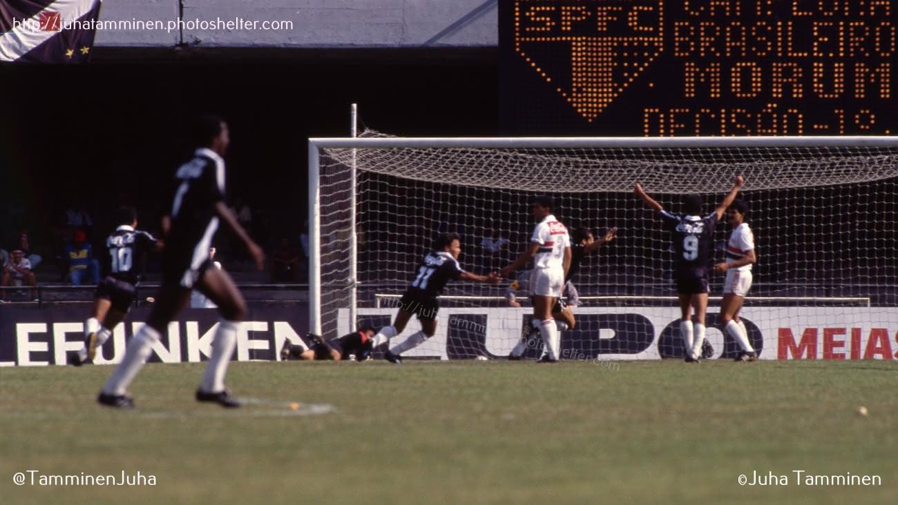 Gol de Sorato contra o São Paulo em 89