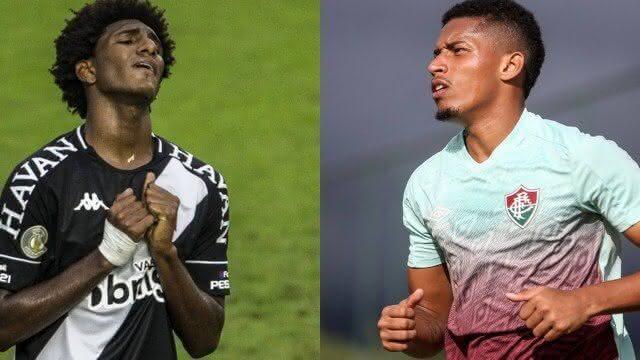 Talles Magno e Marcos Paulo, jogadores de Vasco e Fluminense