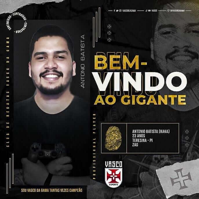 Antonio Batista, reforço do E-Sports do Vasco