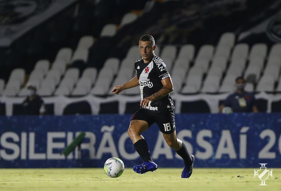 Bruno Gomes durante o jogo contra o Botafogo