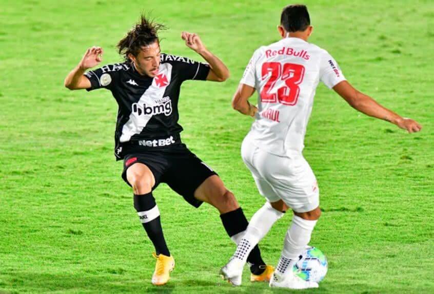 Caio Lopes durante o jogo contra o Bragantino