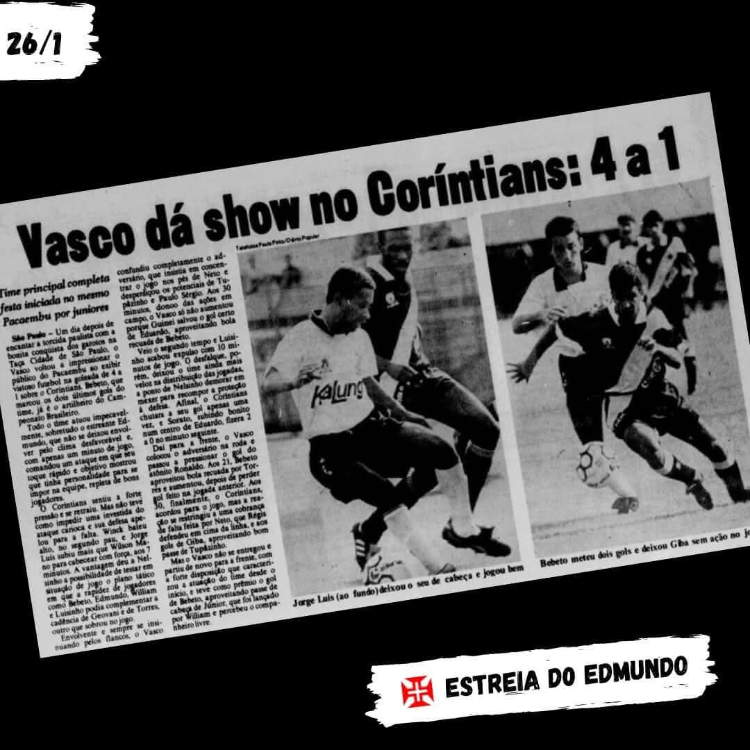 Vasco goleava o Corinthians há 29 anos