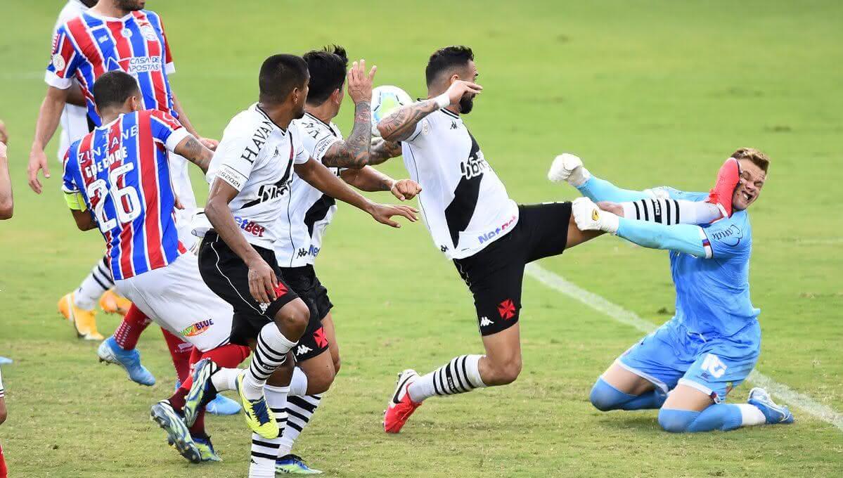Falta de Leandro Castan em Douglas Friedrich, goleiro do Bahia
