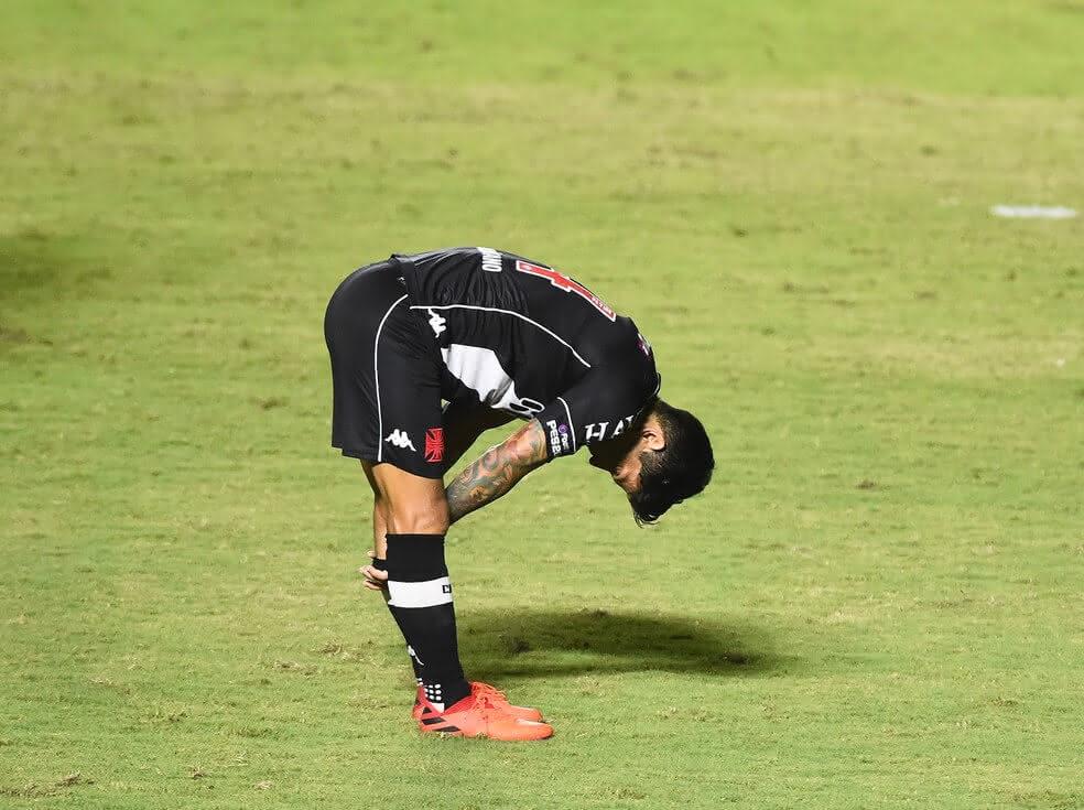 Germán Cano durante o jogo contra o Coritiba
